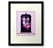 Space TARDIS - Doctor Who Framed Print