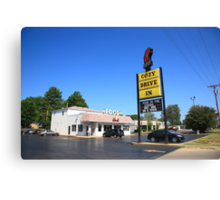 Route 66 - Cozy Dog Drive In Canvas Print