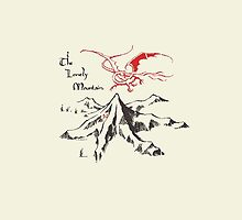 Lonely Mountain, Smaug, The Hobbit, LOTR by NerdGirlTees