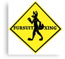 Caution: Fursuit Xing Canvas Print