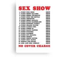 Bangkok Red Light Ping Pong Sex Show Canvas Print