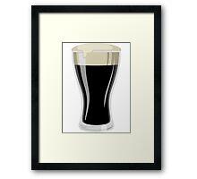 Dark Beer Framed Print