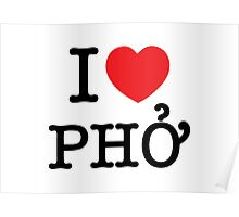 I Heart (Love) Phở Poster