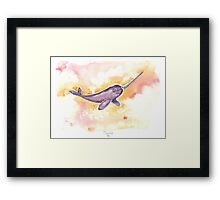 Flight of the Narwhal  Framed Print