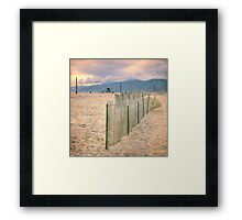 Quiet afternoon at the beach Framed Print