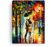 DANCE UNDER THE RAIN - Leonid Afremov Canvas Print