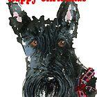 Scottie Dog 'Happy Christmas' by archyscottie