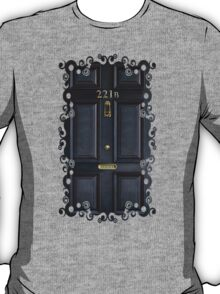 Black Door with 221b number T-Shirt