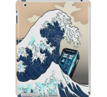 Space And Time traveller Box Vs The great wave iPad Case/Skin