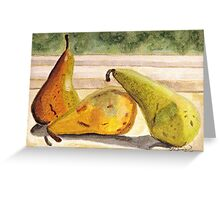 Pears Ripening on the Windowsill Greeting Card