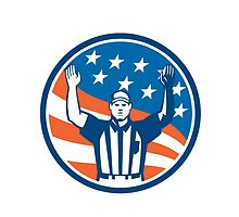 American Football Official Referee Touchdown by patrimonio