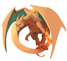 Realistic Charizard by Foriegnbacon