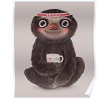 Sloth I♥yoga Poster