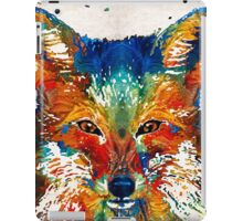 Colorful Fox Art - Foxi - By Sharon Cummings iPad Case/Skin