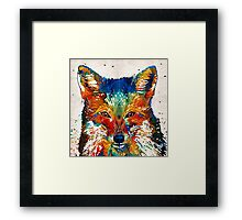 Colorful Fox Art - Foxi - By Sharon Cummings Framed Print