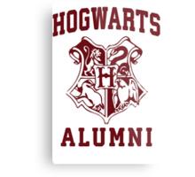 Hogwarts Alumni   Harry Potter Hogwarts Quote Shirt, Hogwarts Seal, Hogwarts Crest Metal Print