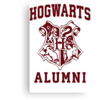 Hogwarts Alumni | Harry Potter Hogwarts Quote Shirt, Hogwarts Seal, Hogwarts Crest Canvas Print