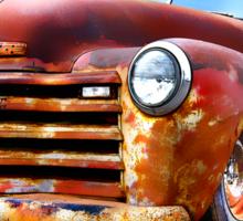 Pinstripe Rust Truck-a Sticker