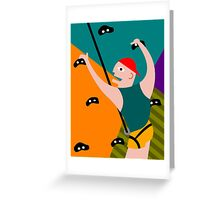 Rock Climbing Indoor Greeting Card