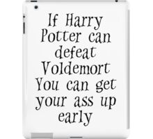If Harry can defeat Voldemort... iPad Case/Skin