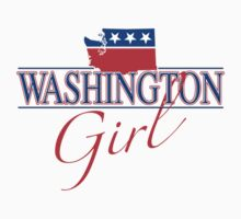 Washington Girl - Red, White & Blue Graphic by SandpiperDesign