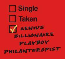 Singel, Taken, Genius Billionaire Playboy Philanthropist by Raven Montoya