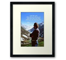 Mountain views Framed Print