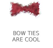 Bow ties are cool (cubism style) by cumberbitchhaha
