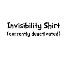 Invisibility Shirt by TheBestStore
