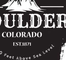 Rock Climbing Boulder Colorado Sticker
