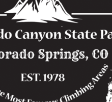 Rock Climbing Eldorado Canyon State Park Sticker