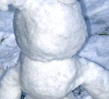 Funny snowman Sticker