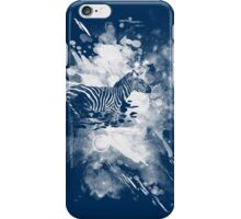 zebra splashed  iPhone Case/Skin