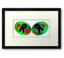 Pro Era Green Tie Dye Framed Print