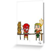 The flash and aquaman Greeting Card
