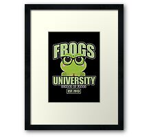 Frogs University 2 Framed Print