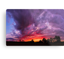 Epic Midwest Sunset and Stormy Sky Metal Print