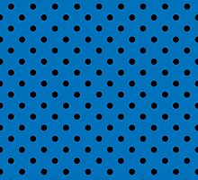 Polkadots Blue and Black by Medusa81