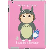 When I grow up, I will be a forester (girl) iPad Case/Skin