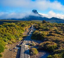 Walking towards Barn Bluff on the Overland Track. by Nick Griffin