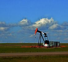 Pumpjack On The Prairie by Tracy Deptuck