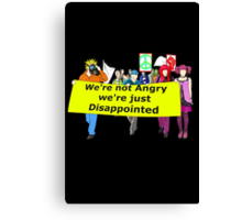 disappointed  Canvas Print