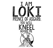 Loki Thor Marvel Comics Typography Poster by geekchicprints
