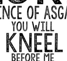 Loki Thor Marvel Comics Typography Poster Sticker