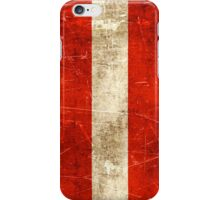 Vintage Aged and Scratched Austrian Flag iPhone Case/Skin