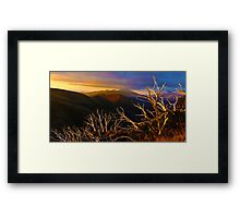 Mt Hotham Brush Framed Print