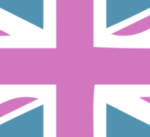 Union Jack and Big Ben, London, UK, Pink and Purple Sticker
