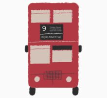 Red Double Decker Bus - Vintage London, England, UK by CorrieJacobs