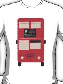 Red Double Decker Bus - Vintage London, England, UK T-Shirt