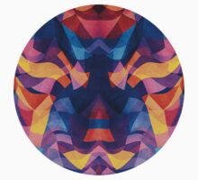 Abstract Surreal Chaos theory in Modern Blue / Orange Kids Clothes